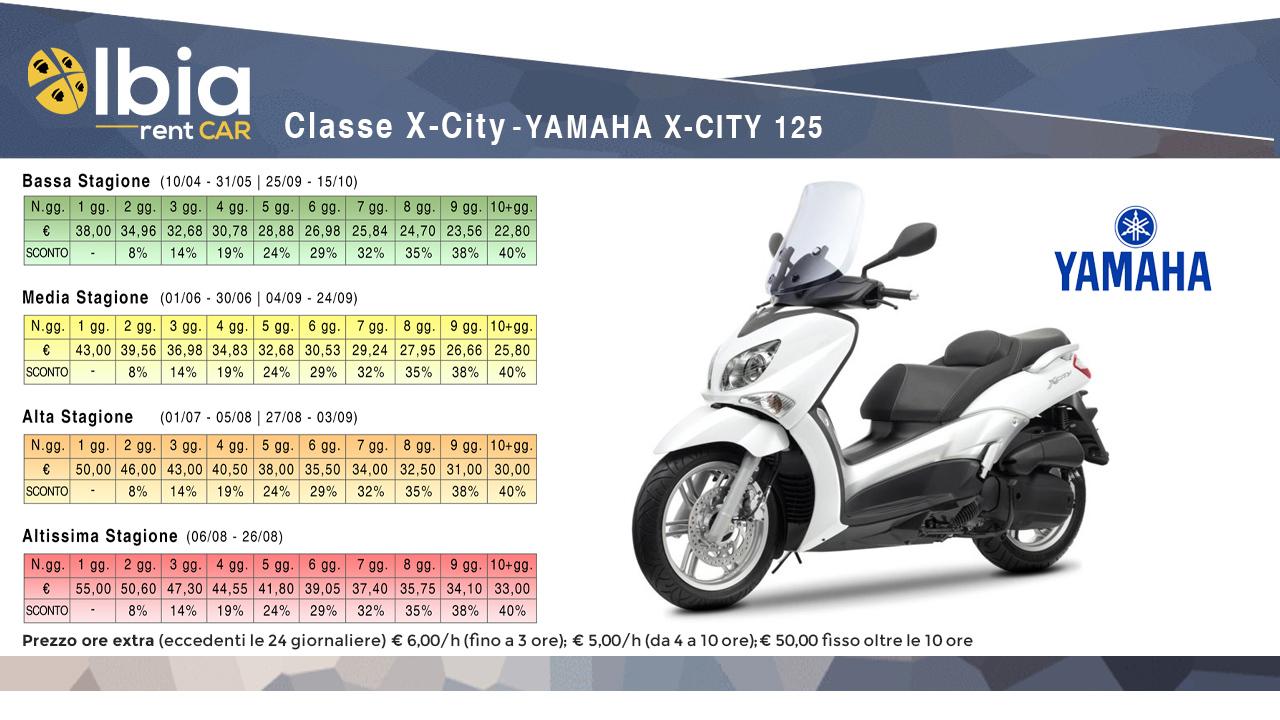 noleggio scooter yamaha olbia aeroporto